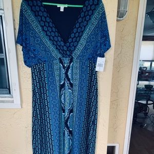 NWT Blue and White Maxi Dress Size 16